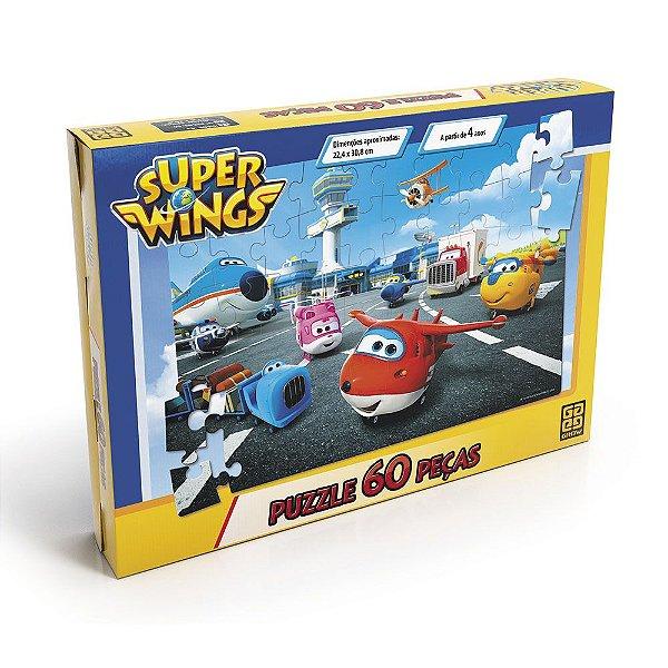 Quebra-Cabeça Super Wings - 60 peças - Grow