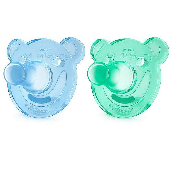 Kit Chupetas Calmantes Azul - de 0 a 3 meses