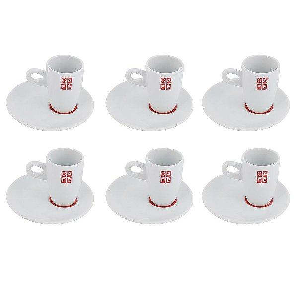 Jogo de Xícaras para Café Classic - 12 peças - Schmidt