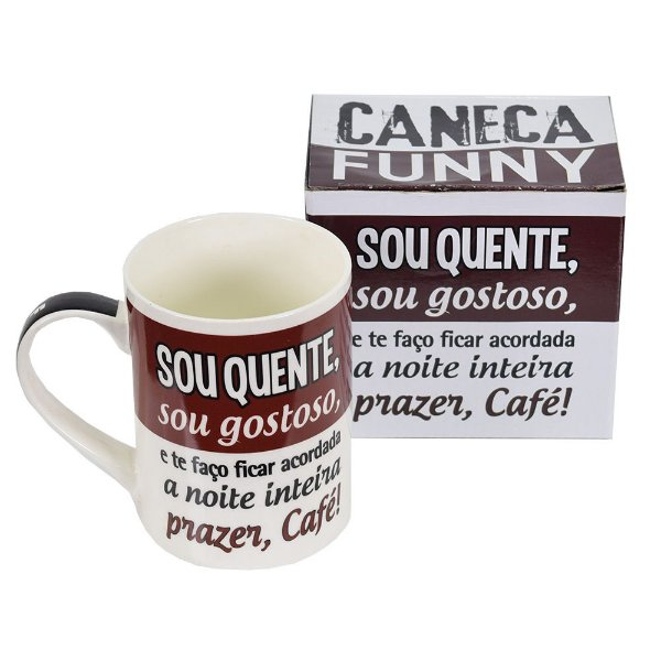 Caneca Funny Sou Quente - Zona Criativa