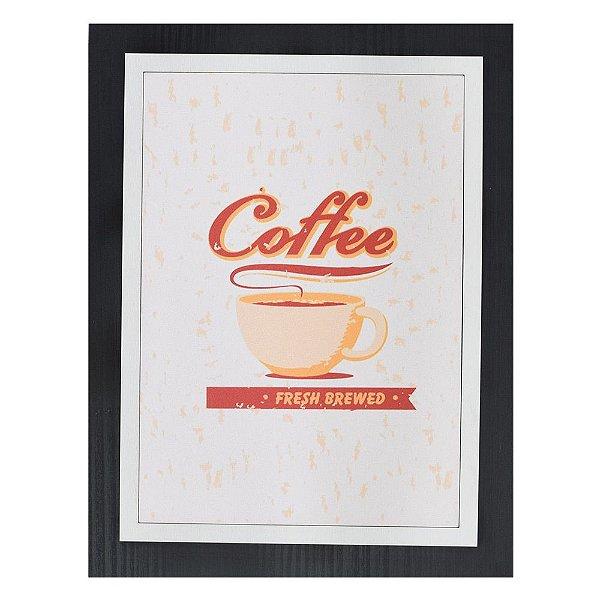 Quadro Decorativo Coffee Fresh Brewed - 30 x 23 cm