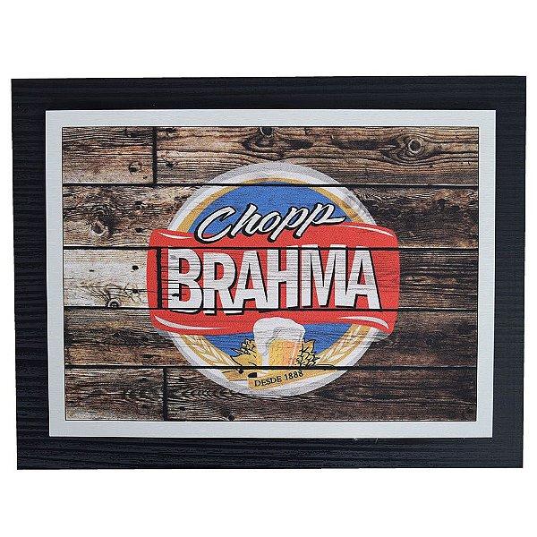 Quadro Decorativo Chopp Brahma - 30 x 23 cm