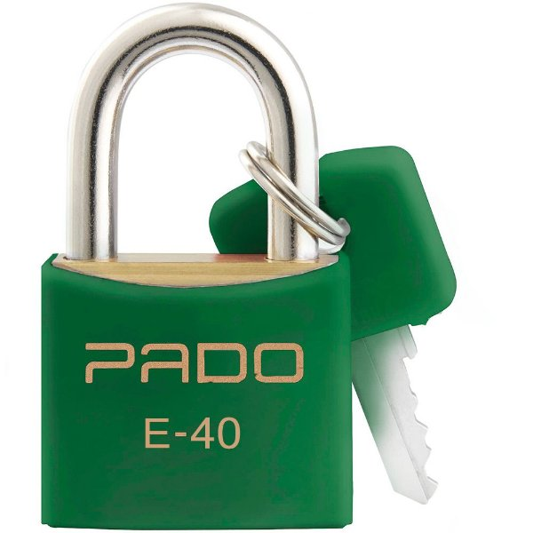 Cadeado Com Chaves Colors - E 40mm - Verde - Pado