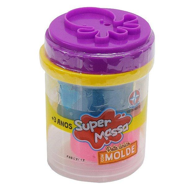 Super Massa - Pote Único Com Molde Polvo - Estrela