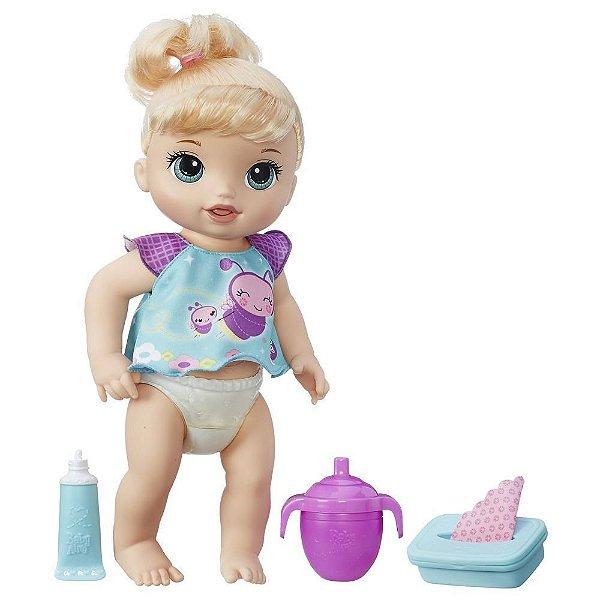 Boneca Baby Alive Loira - Fraldinha Mágica