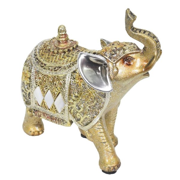 Elefante Indiano Dourado Pequeno - Mabruk