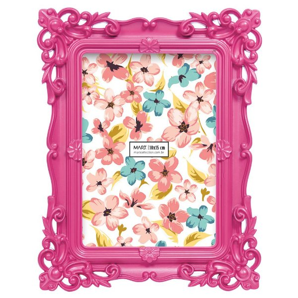 Porta Retrato Rosa 10 x 15 cm - Mart