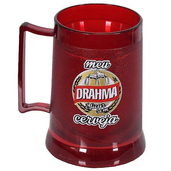 Caneca Gel Meu Drahma É Ficar Sem Cerveja - Brasfoot