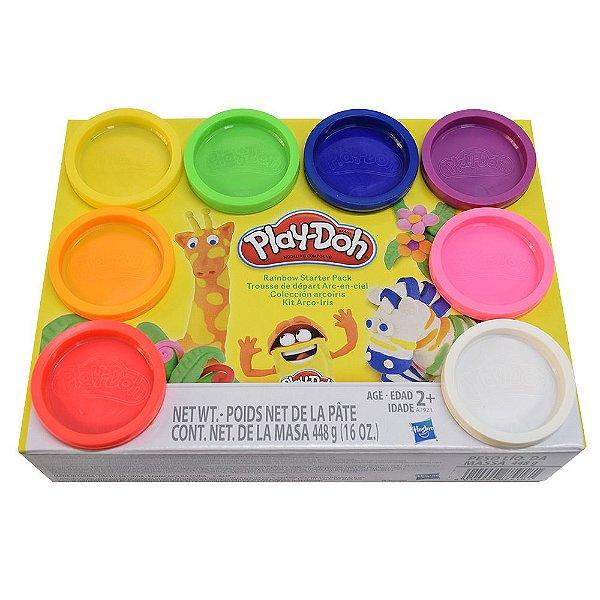 Conjunto Play-Doh Arco-Íris - 8 unidades - Hasbro