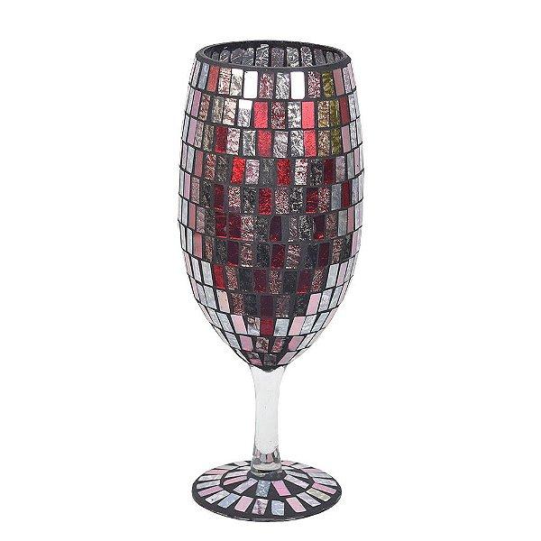 Candelabro Mosaico Vermelho - Mabruk