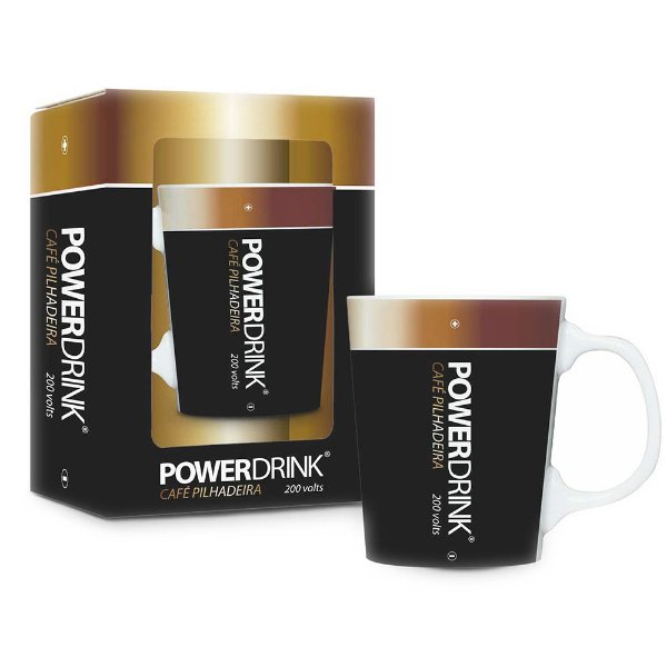 Caneca Premium Power Drink - 280 ml - Brasfoot