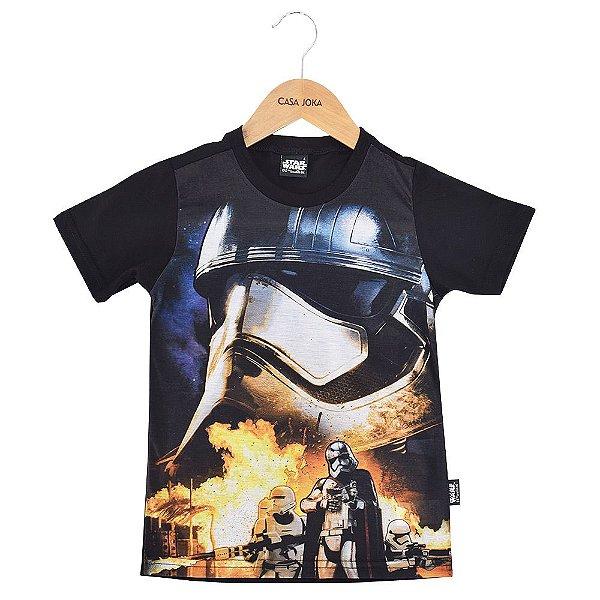 Camiseta Infantil Stormtroopers Combate - Star Wars - Malwee