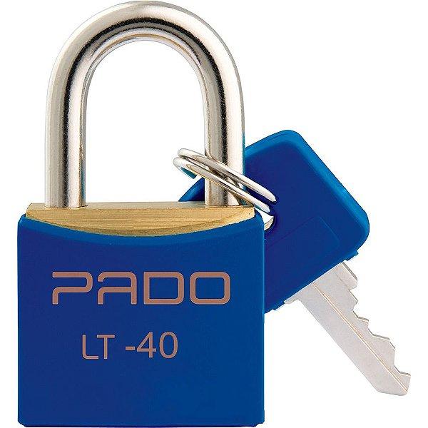 Cadeado Com Chaves Colors - LT 40mm - Azul - Pado