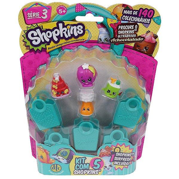 Shopkins Blister Kit com 5 Personagens - Série 3 - DTC