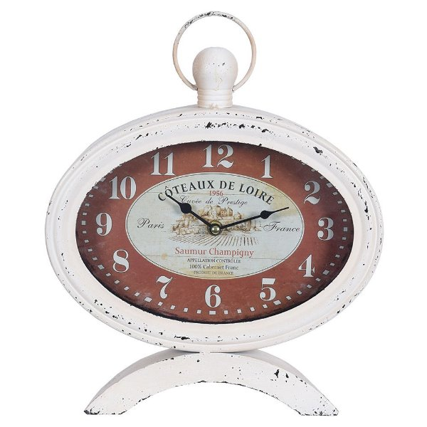 Relógio de Mesa Oval - Côteaux de Loire - Concepts Life