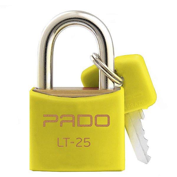 Cadeado Com Chaves Colors - LT 25 mm - Amarelo - Pado