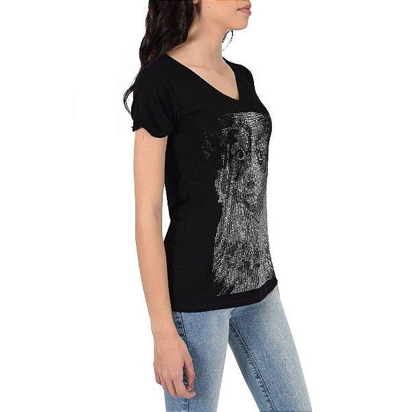 Camiseta Feminina Pet Com Brilho - Groovy