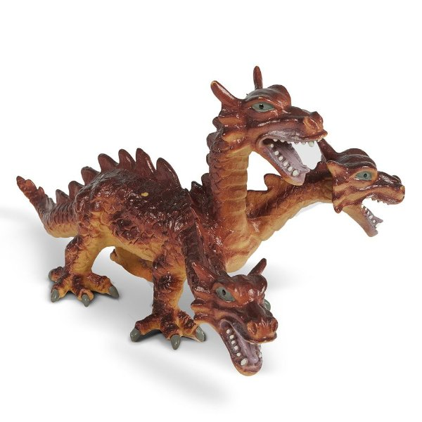 Dragão Bicho Mundi - Três Cabeças Vermelho - DTC