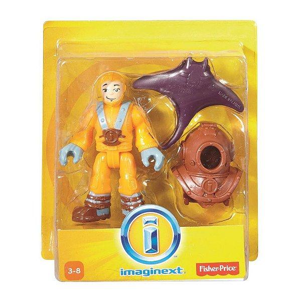 Imaginext Mini Figura com Acessórios - Mergulhador - Fisher-Price