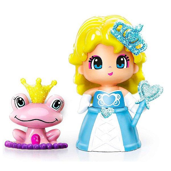 Boneca Pinypon Princesas - Vestido Azul - Multikids