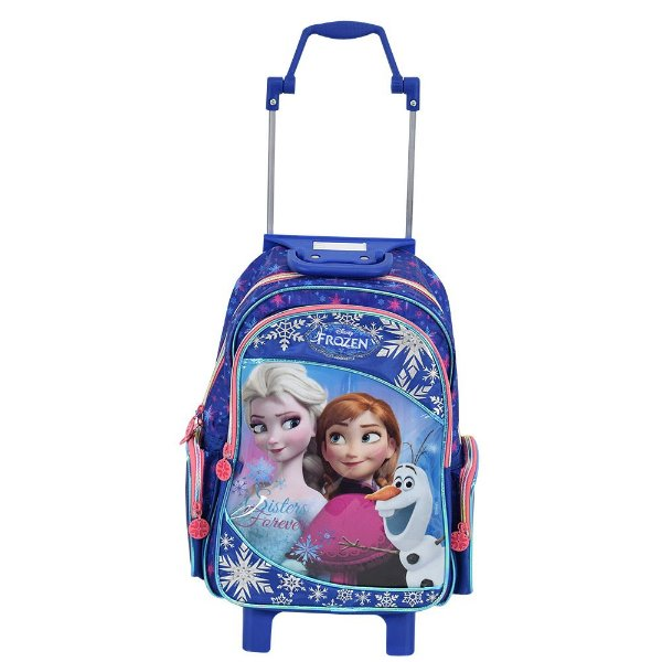 Mochilete Frozen Elsa e Anna + Tiara com Trança - Dermiwil