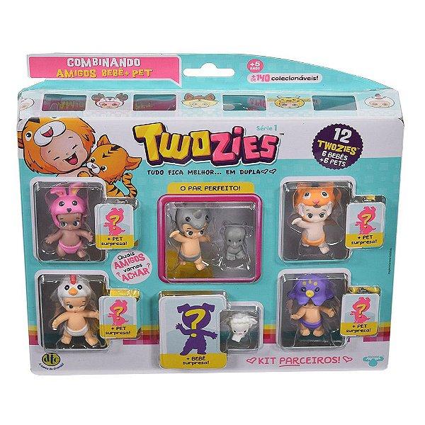 Twozies Blister Kit com 12 Personagens - Série 1 - Rinoceronte - DTC