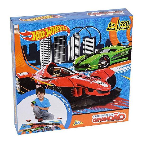 Quebra-Cabeça Grandão Hot Wheels - 120 peças - Toyster