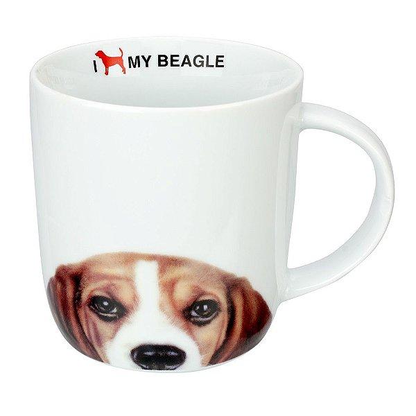 Caneca em Porcelana I Love My Beagle - Dynasty