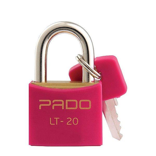Cadeado Com Chaves Colors - LT 20mm - Rosa - Pado