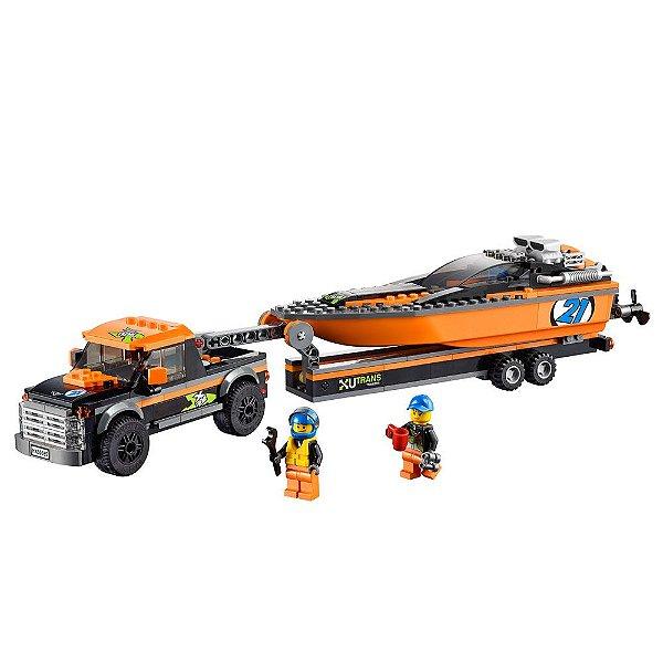 Lego City - 4x4 com Barco A Motor - Lego