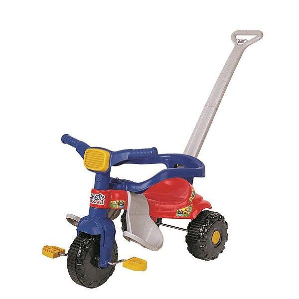 Triciclo Infantil Tico Tico Festa - Azul e Vermelho - Magic Toys