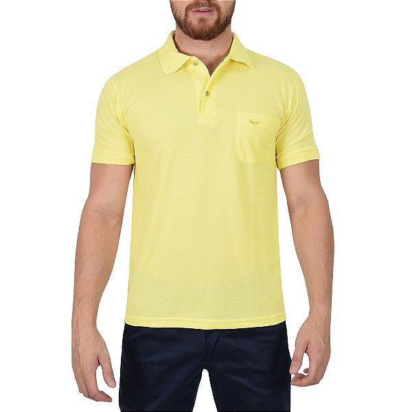 Camisa Polo Masculina Amarela - Wayna