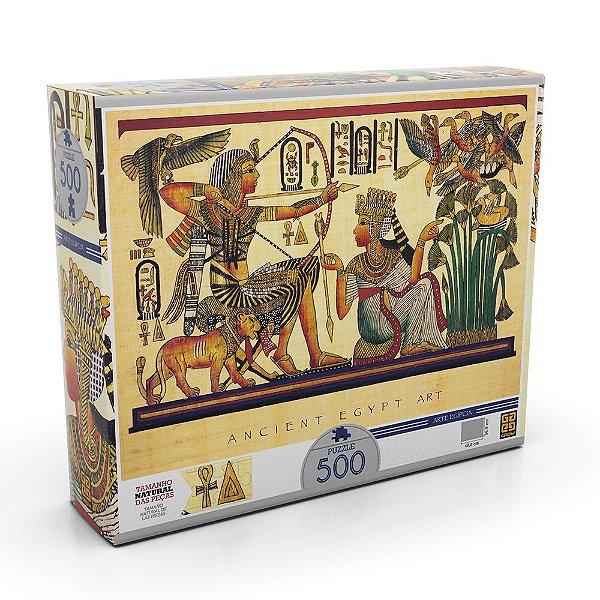 Quebra Cabeça Arte Egípcia - 500 Peças - Grow