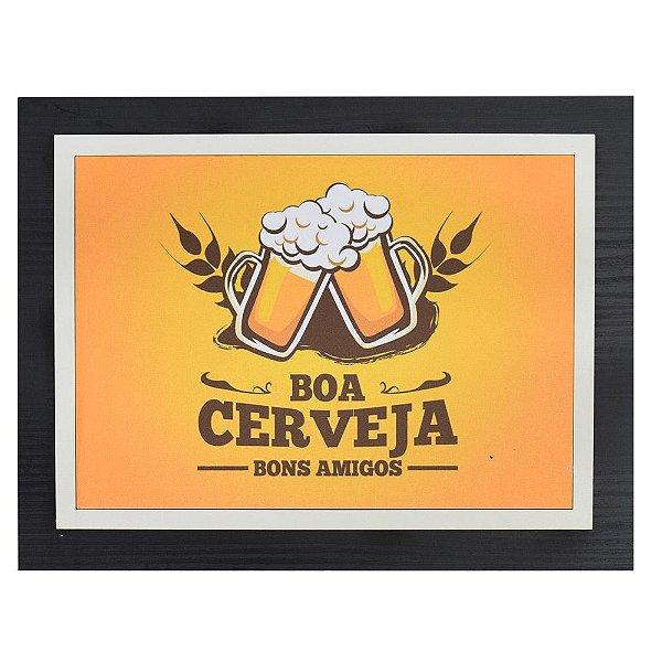 Quadro Decorativo Boa Cerveja - 30 x 23 cm