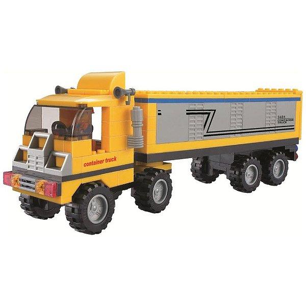 Blocos de Encaixe Cidade Em Obras - Caminhão - 174 Peças
