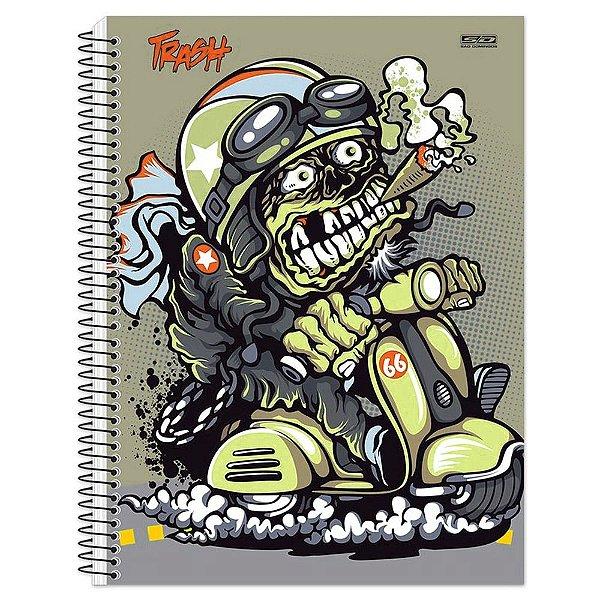 Caderno Trash Monstro Piloto - 1 Matéria