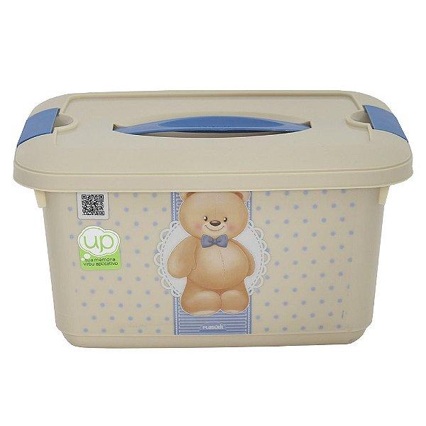 Caixa Organizadora com Alça e Trava Ursinho - 5,2 L
