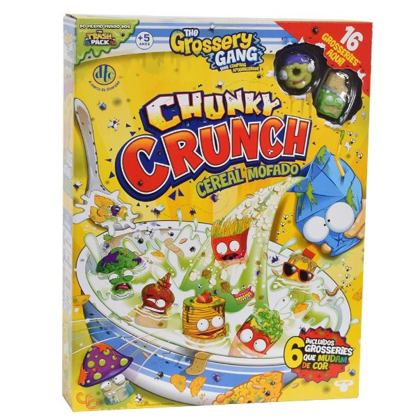 The Grossery Gang Chunky Crunch - Cereal Mofado - 16 personagens - DTC