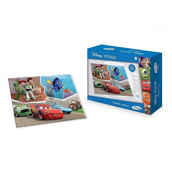 Quebra-Cabeça Disney Pixar - 60 Peças - Xalingo