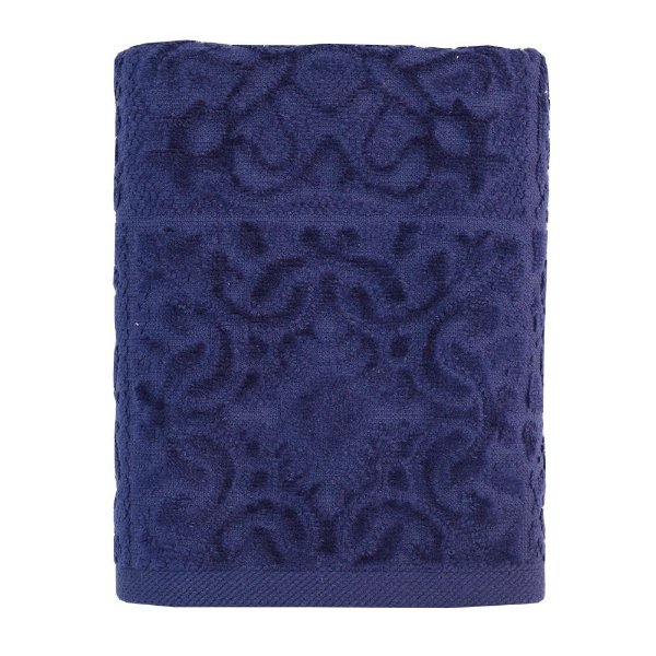 Toalha De Rosto Mirandela - Azul Escuro - Buddemeyer