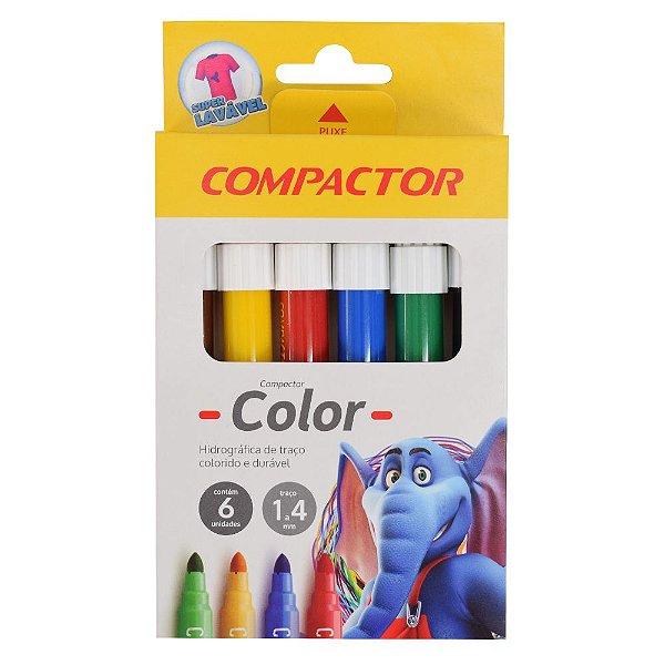 Pincel Hidrográfico Color Compactor - 6 Cores