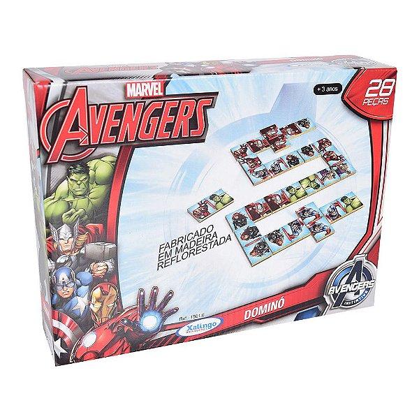 Jogo de Dominó Avengers - Xalingo