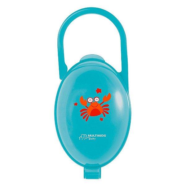 Porta Chupeta Paci Clean Azul - Multikids