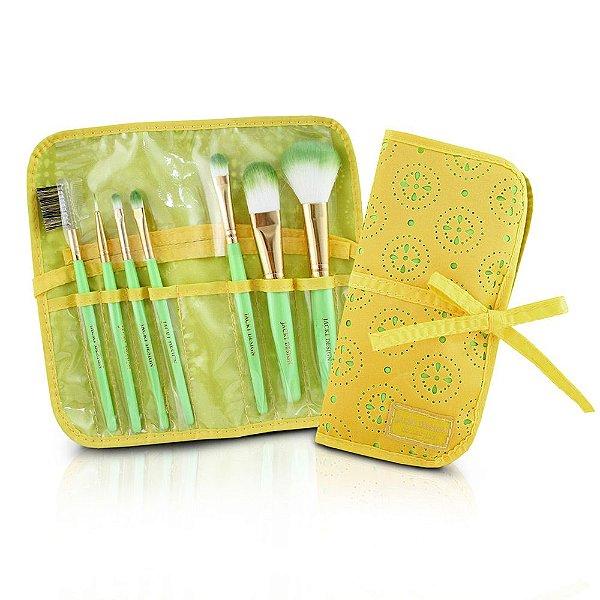 Kit de Pincéis Beverly Hills - 7 Peças - Amarelo