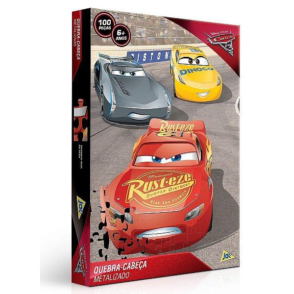 Quebra-Cabeça Metalizado Carros 3 - 100 peças - Toyster