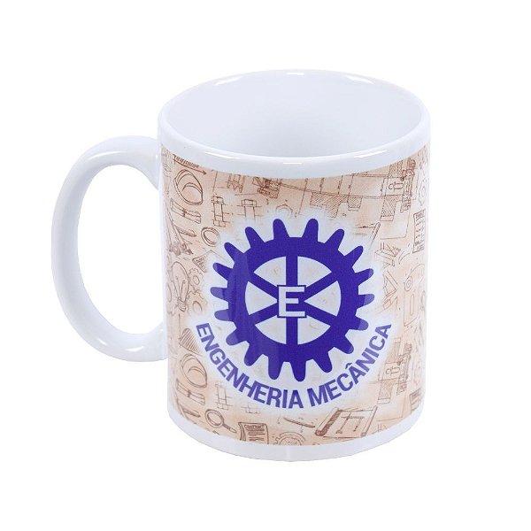Caneca de Cerâmica Profissões - Engenharia Mecânica - Vikos