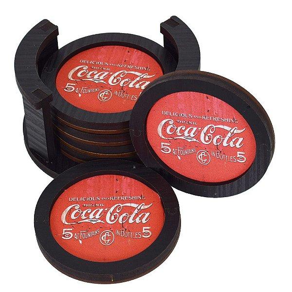 Conjunto de Porta Copos - Coca-Cola