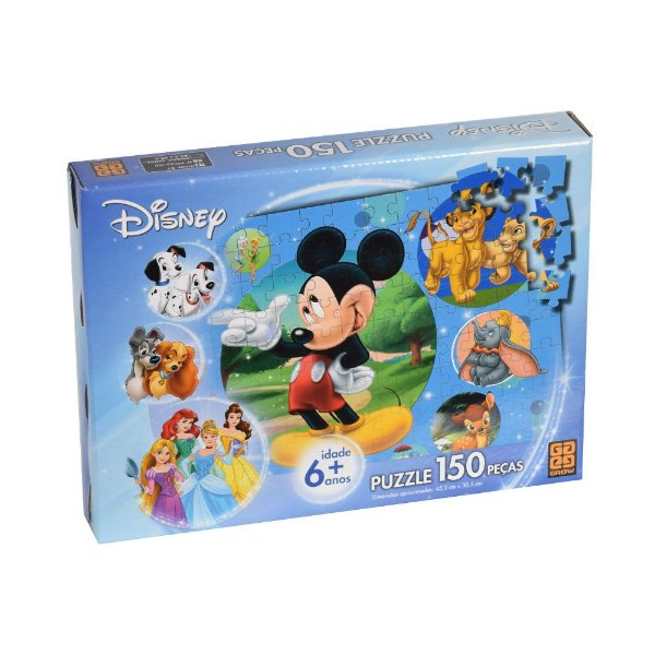Quebra-Cabeça Disney - 150 peças - Grow