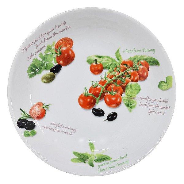 Prato em Porcelana Tomate - Mabruk
