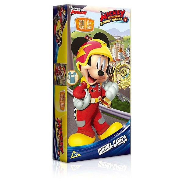 Quebra-Cabeça Aventuras Sobre Rodas - Mickey - 200 peças - Toyster